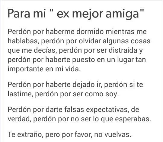 Para Mi Ex Mejor Amiga On We Heart It