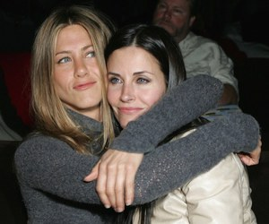 friends, Courteney Cox, and Jennifer Aniston image