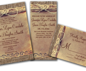 wedding invitations, save the dates, and rsvp image