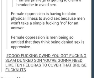 feminism, tumblr, and ifunny image