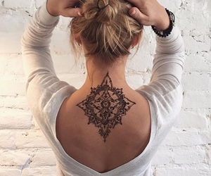 tattoo, henna, and back image