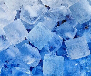blue, ice, and ice cubes image
