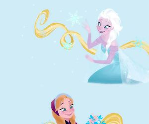 anna, rapunzel, and elsa image