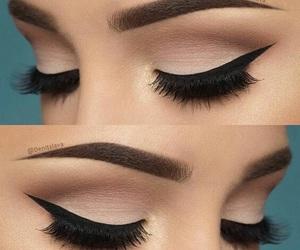eyeliner, mascara, and makeup image