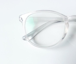 clear, white, and glasses image