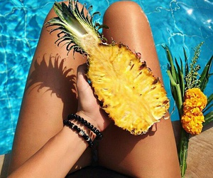 FRUiTS, summer, and swimming pool image