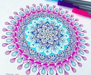 mandalas, art, and drawing image