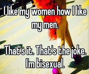 bisexual, men, and joke image