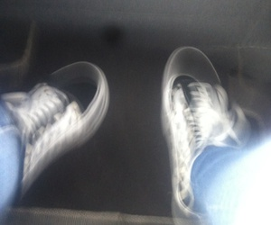 blurry, checkered, and vans image