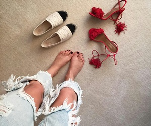 heels, jeans, and sandals image