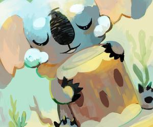 pokemon, nekkoala, and komala image