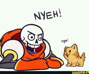papyrus, undertale, and cute image