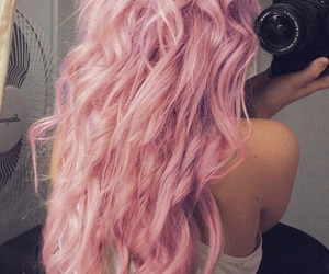 hair, pink, and long image