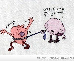 heart, brain, and hurt image