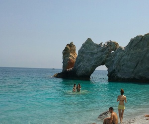 beach, summer, and Greece image