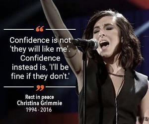 christina grimmie, quotes, and rip image
