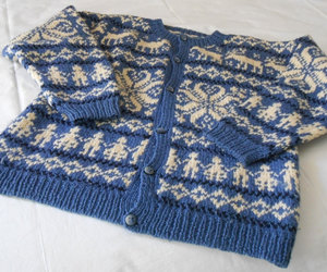 folk, knit sweater, and knitted cardigan image