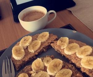 banana, breakfast, and coffee image