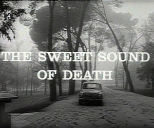 death, black and white, and sound image