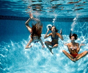 cool, swim, and friendship image