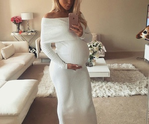 baby, pregnant, and style image