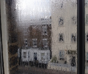 rain, window, and grunge image