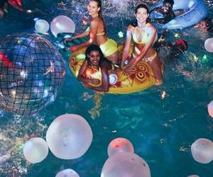 balloons, bikini, and fun image