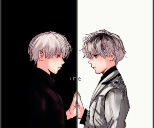 black and white, k e n, and ghoul image