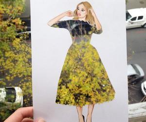 dress, girl, and nature image