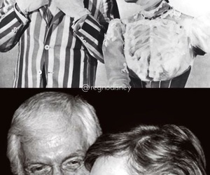 bert, black and white, and julie andrews image