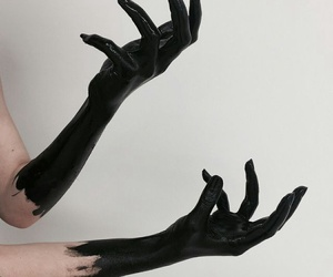 black, aesthetic, and hands image