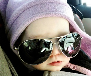 baby, cute, and sunglasses image