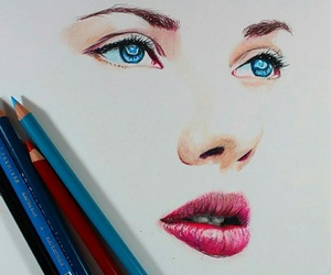 art, colors, and eyes image
