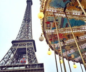 carousel, eiffel, and france image