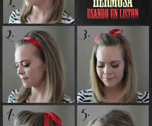 hair, diy, and red image