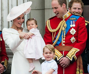 prince william, princess charlotte, and prince george image