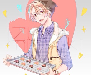art, brownies, and hearts image