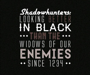 quote, shadowhunters, and black image