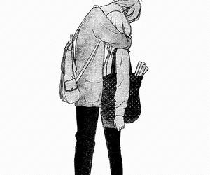 couple, romance, and manga image
