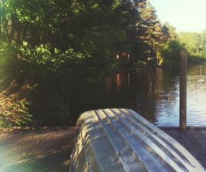 beautiful, boat, and lake image