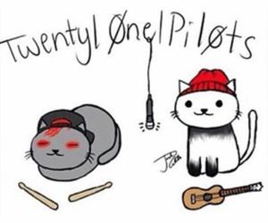 twenty one pilots, cat, and band image