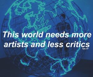artist, blue, and critics image