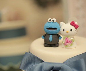 blue, cake, and cookie monster image