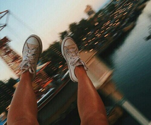 legs, shoes, and light image