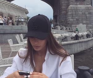 girl, cap, and hair image