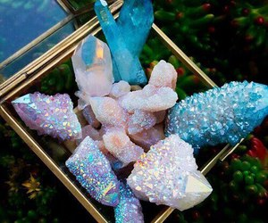 crystal, blue, and stone image