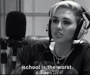 miley cyrus, school, and worst image