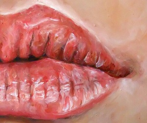 lips, art, and painting image