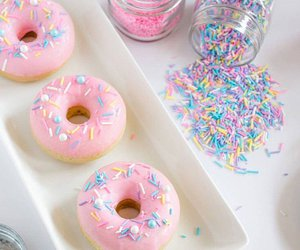 donut, food, and pastel image