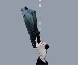 anime, gun, and manga image